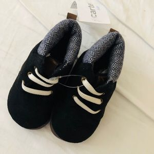 Carter's black baby booties